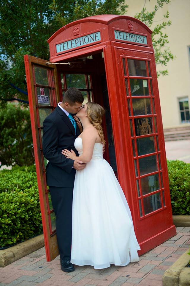 galveston wedding photography london styled red photo booth