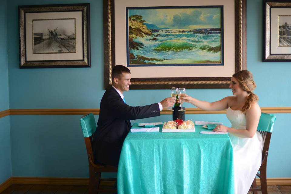 precious nuptials and destinations elopement dinner for two