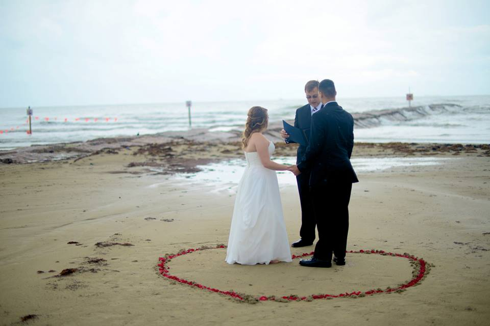 Galveston Beach Weddings Blue Media Works Photography