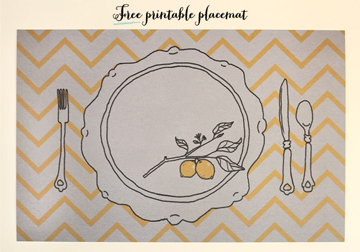 Fun Find Friday: Free Printable Placemat