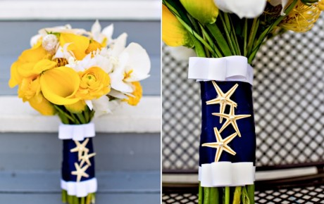Nautical Wedding Bouquet | Photo Credit: One Wed