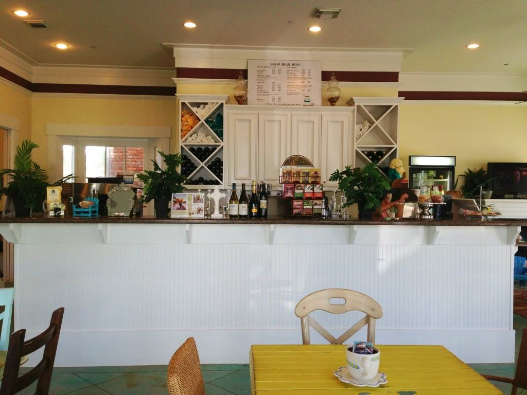 Interior of Sugar Bean Coffee and Cream Galveston
