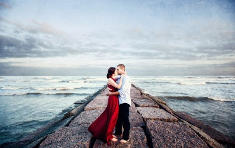 Galveston Engagement Photo by Steve Lee Photography