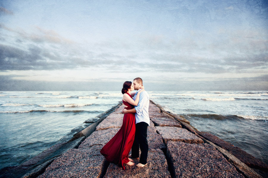 Miriam + Richard | Galveston Engagement Photos