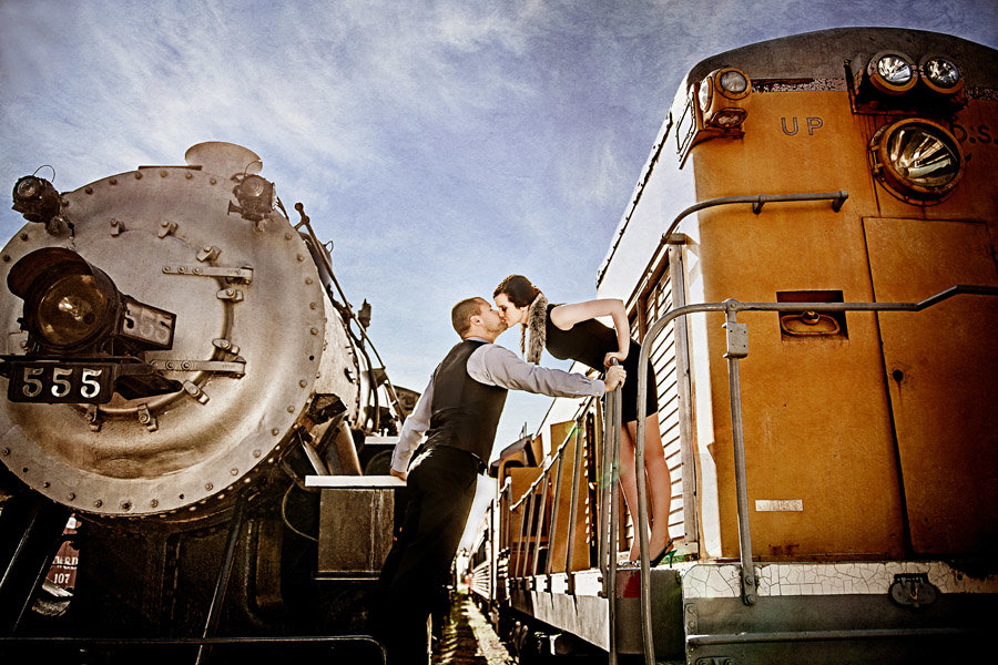 Galveston Engagement Photos | Galveston Railroad Museum