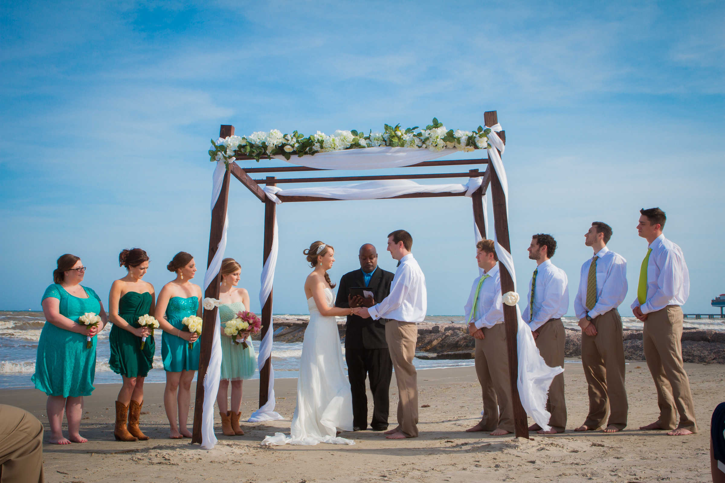 Galveston Beach Wedding