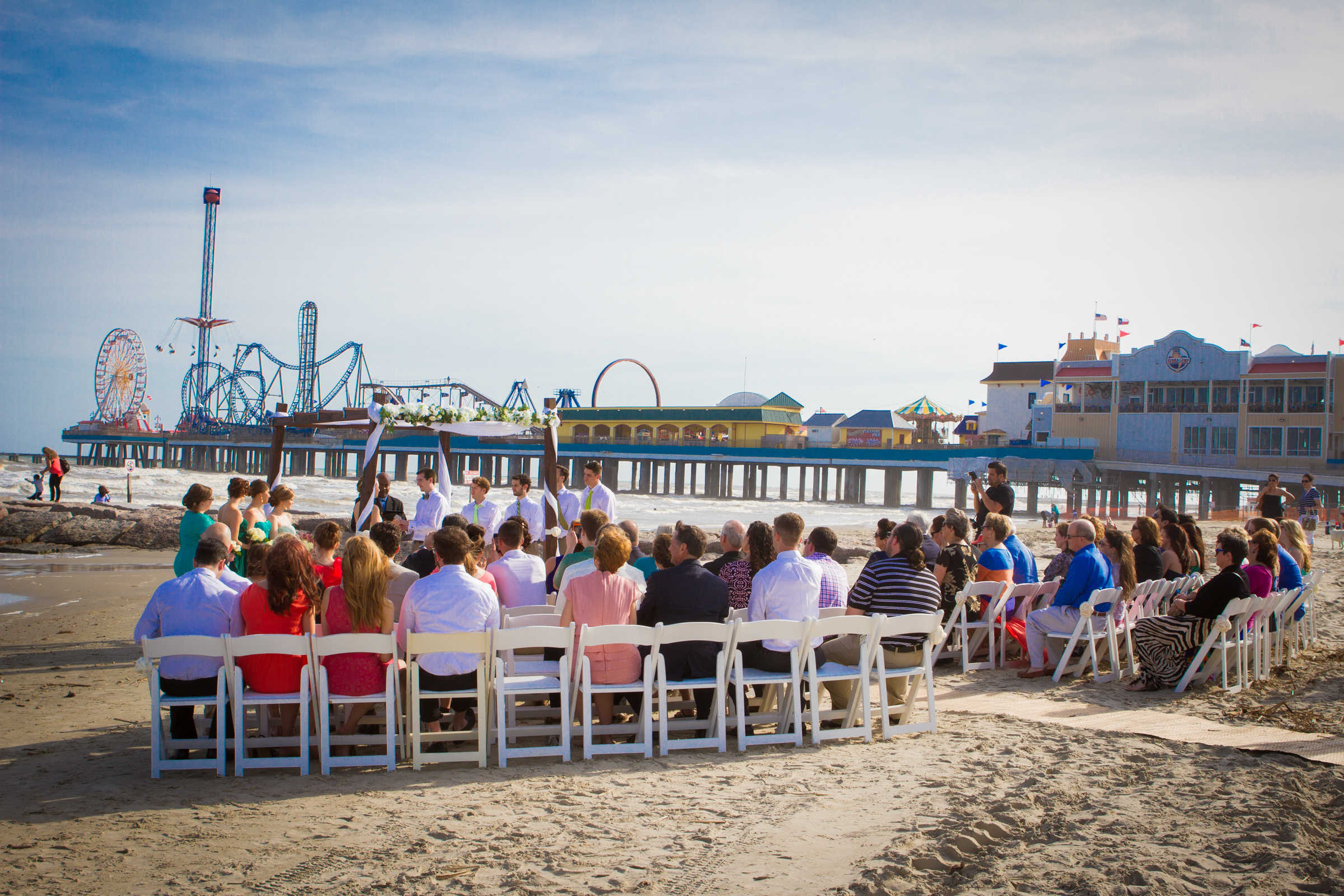 Beach Wedding near Pleasure Pier