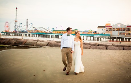 Galveston Beach Wedding Couple