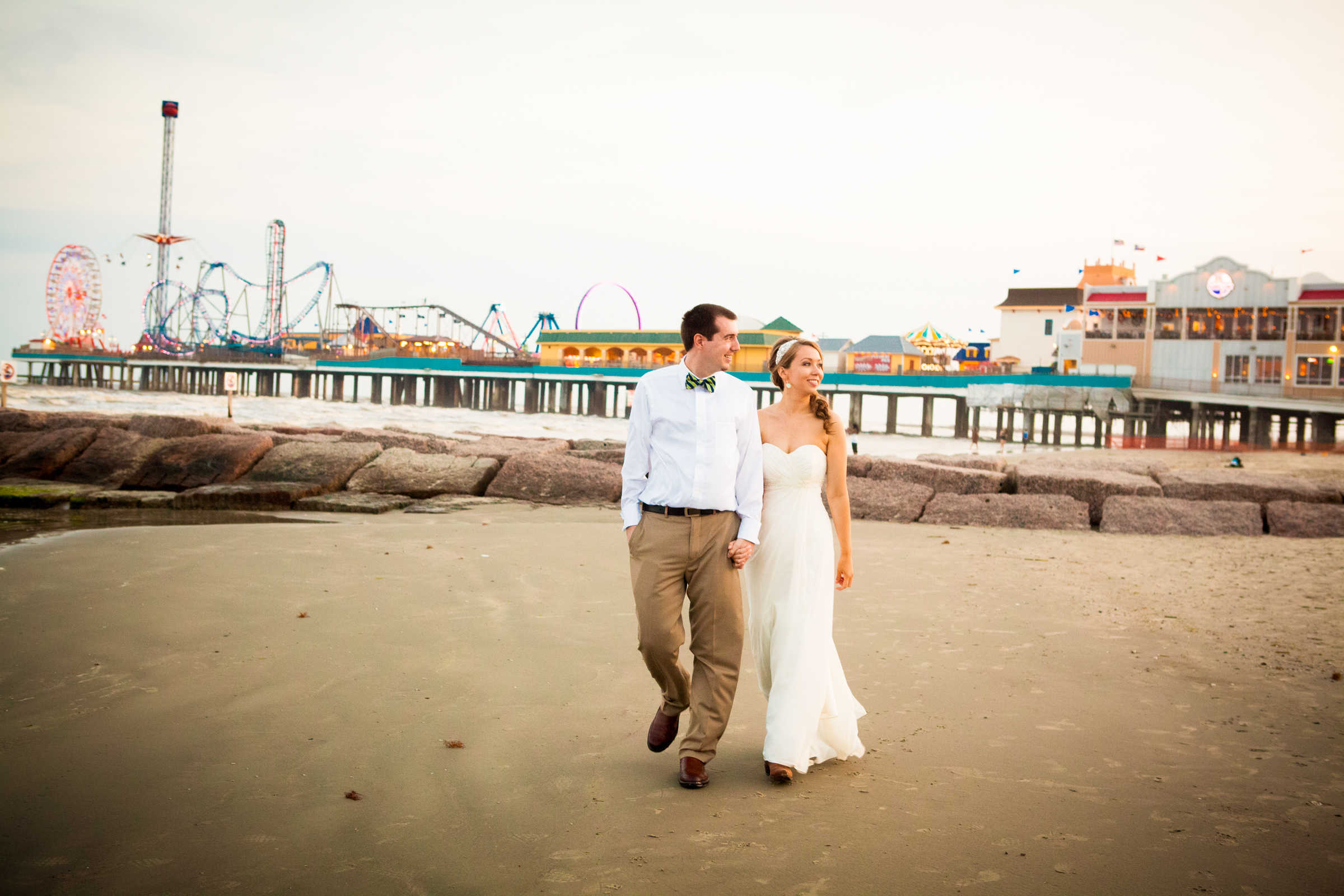 Galveston Beach Wedding | Galveston Strand Bienville Social Reception