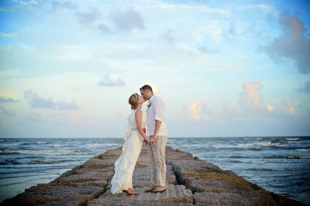 Stefany And Spencer S Galveston Beach Wedding Marry In