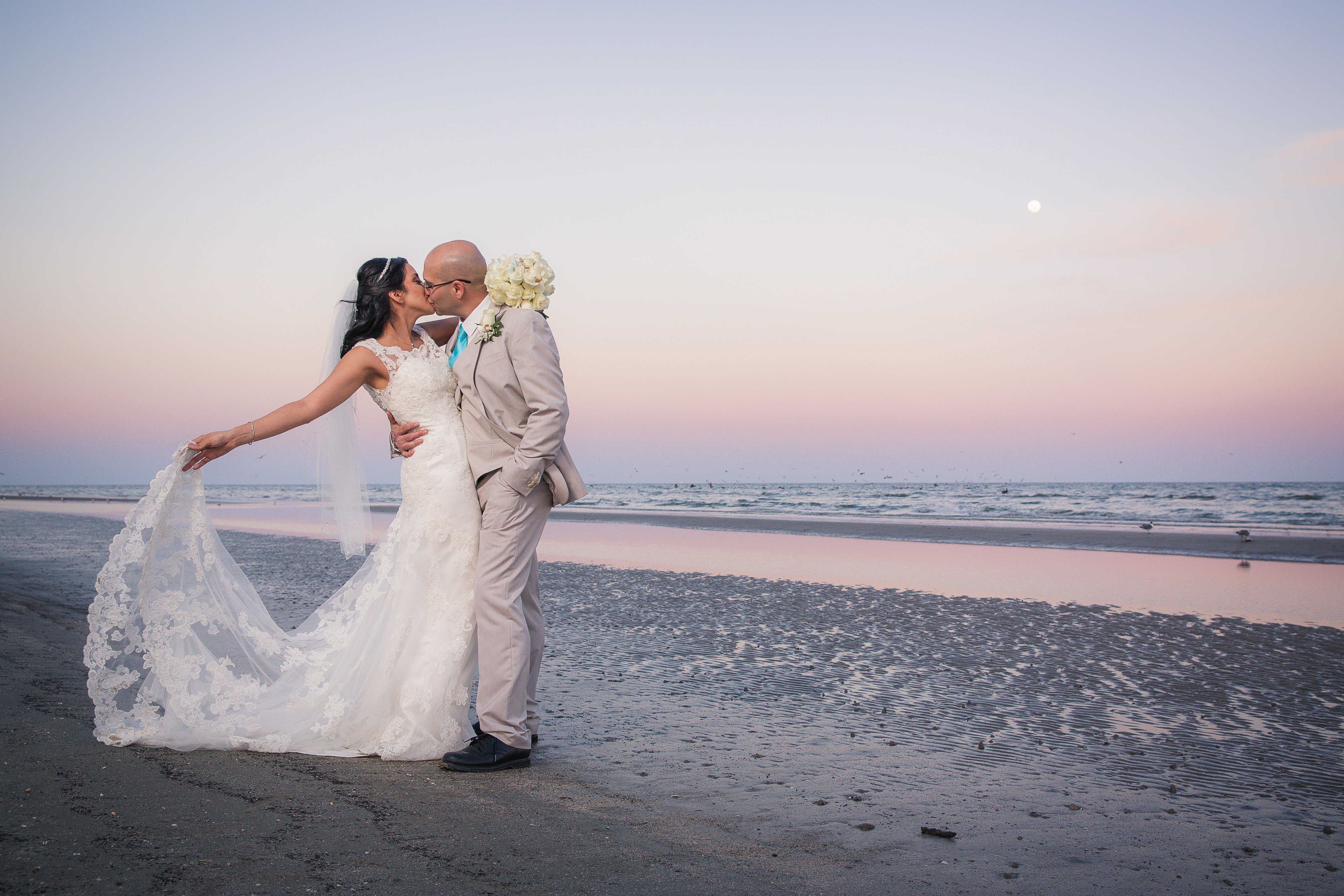 Martha and Chris's Precious Moment: Their Galveston Beach Wedding!